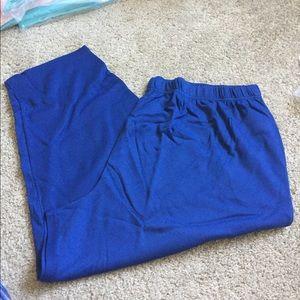 Blue Elastic Waist Pull on Pants